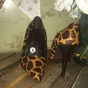 Aldo giraffe pony hair pump L/N